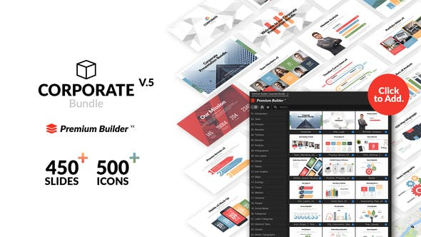 AE脚本/模板-1500种公司企业商务信息图表团队业务会议网络媒体标题展示动画包 Corporate Bundle & Infographics插图