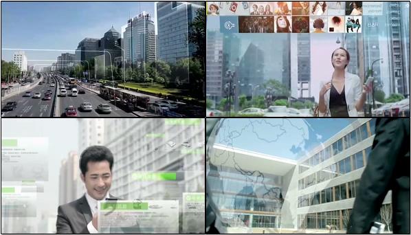 视频素材 白云交通数据信息连接互联网社交智能购物智慧办公未来科技插图