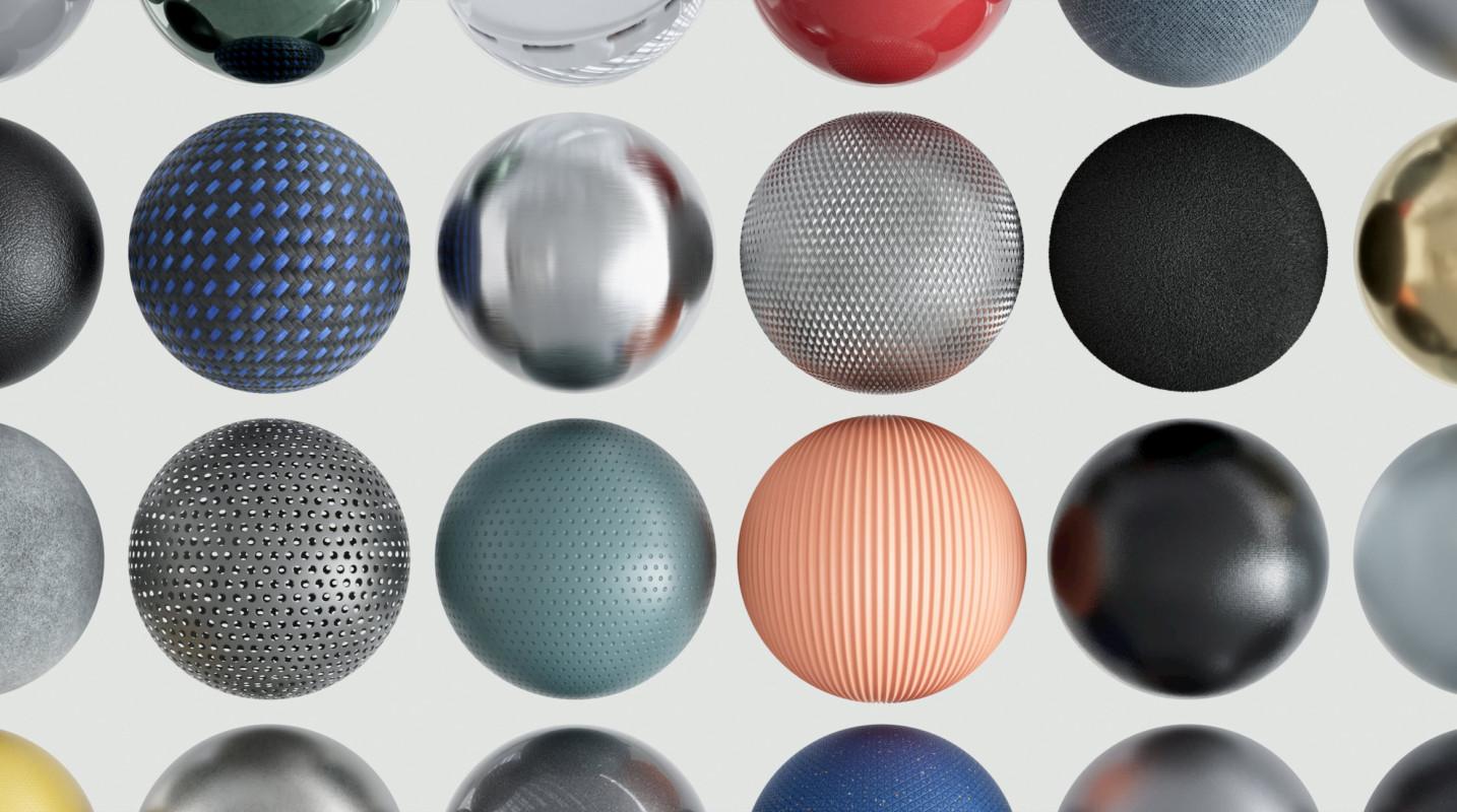86组GSG灰猩猩现代科技数码产品材质纹理C4D预设+JPG贴图 免登录下载插图