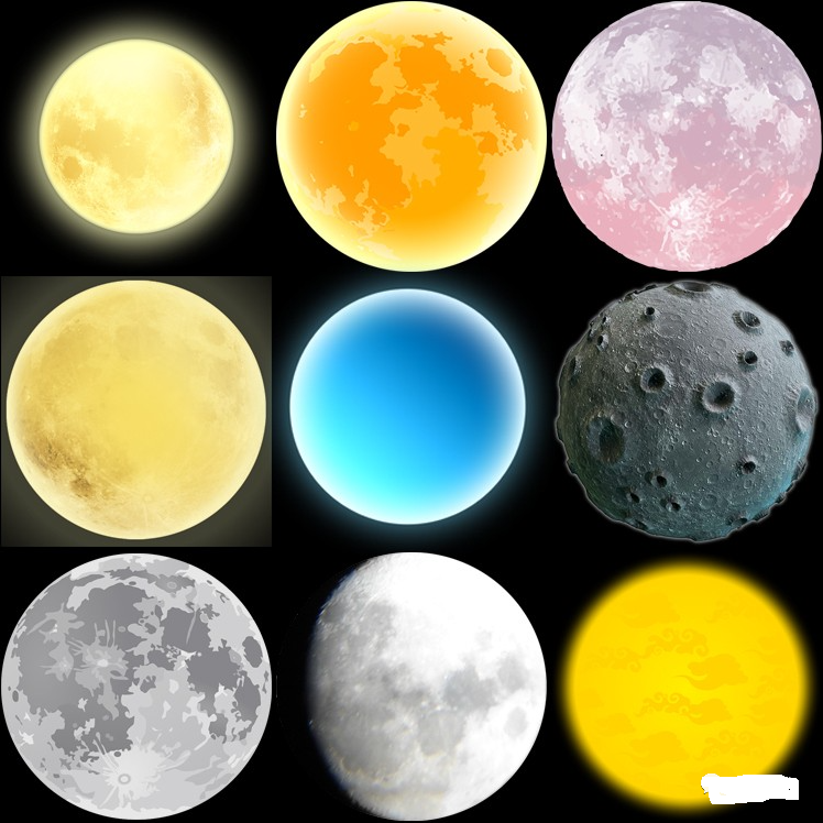 月亮月球圆月月相变化弯洁白月高清图片元素PNG免扣PS设计素材免费下载插图5