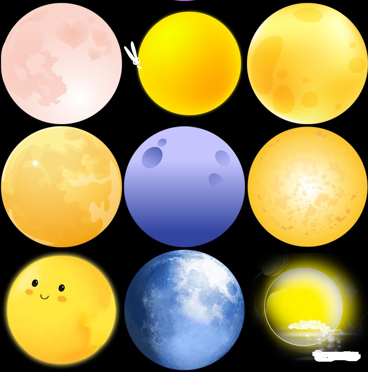 月亮月球圆月月相变化弯洁白月高清图片元素PNG免扣PS设计素材免费下载插图4