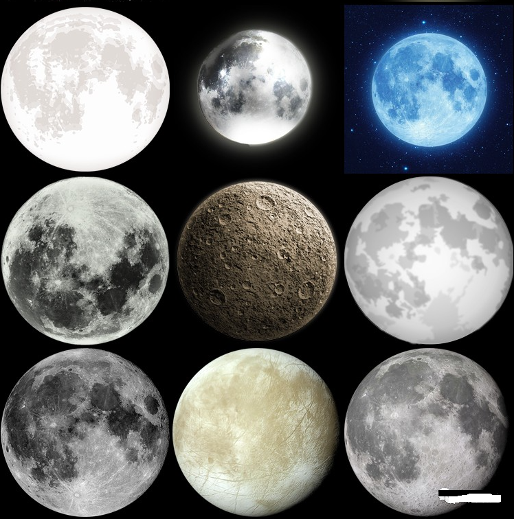 月亮月球圆月月相变化弯洁白月高清图片元素PNG免扣PS设计素材免费下载插图2