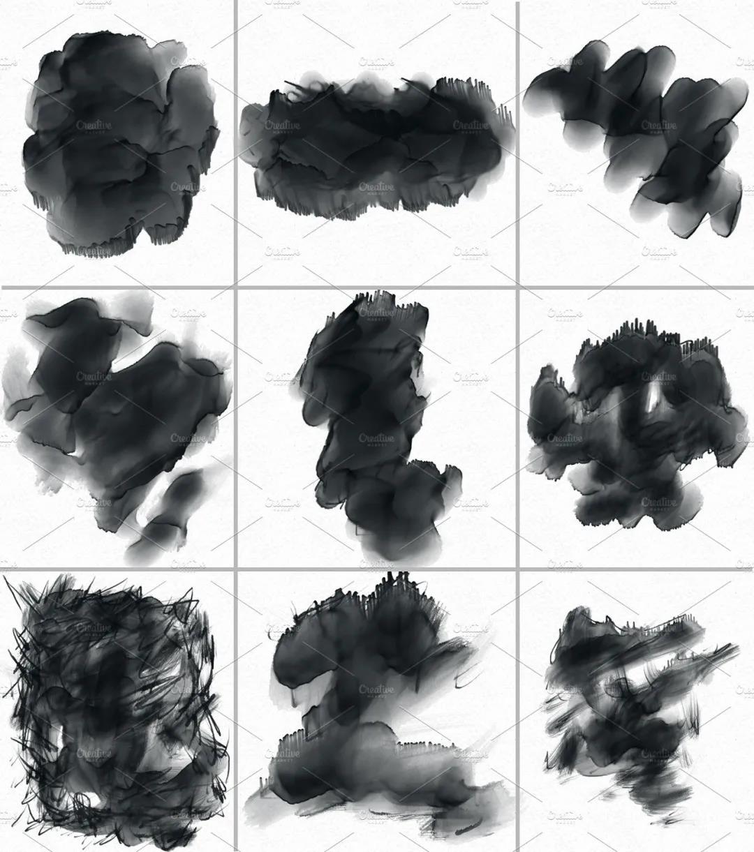 30个高品质的手绘水彩风格的PS画笔笔刷免费下载免登录插图2