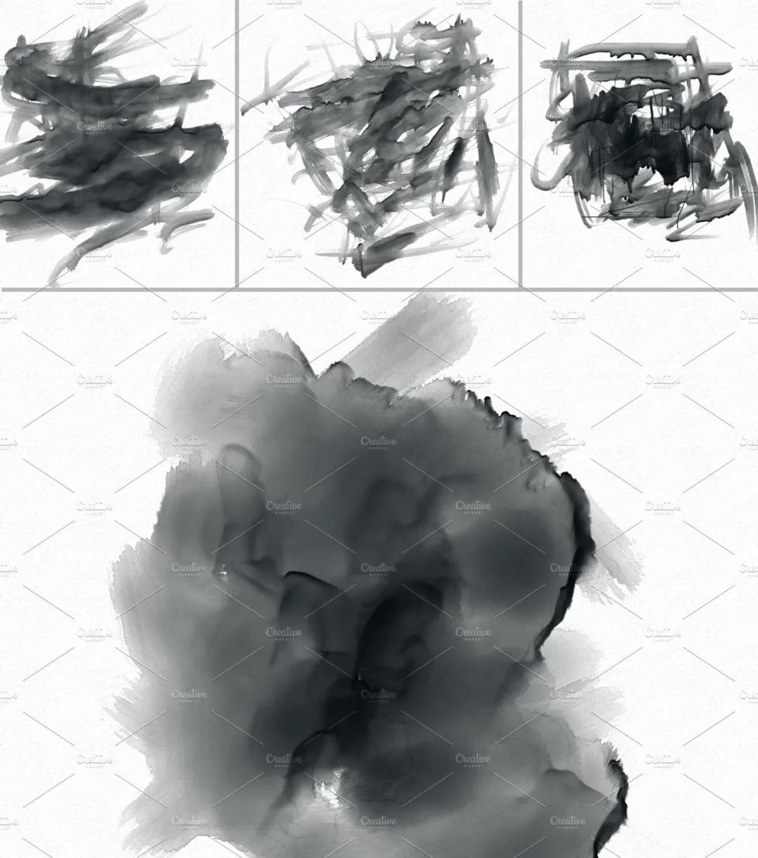 30个高品质的手绘水彩风格的PS画笔笔刷免费下载免登录插图5