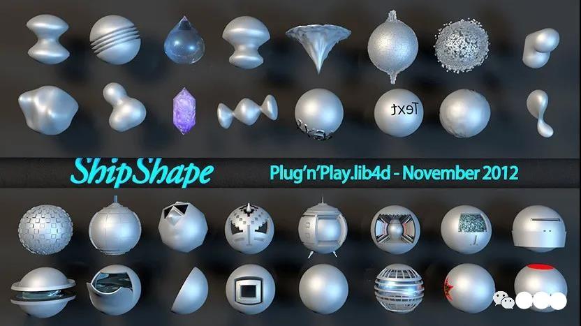 C4D工业形状创意零部件模型预设创意场景3D模型素材免费下载插图2