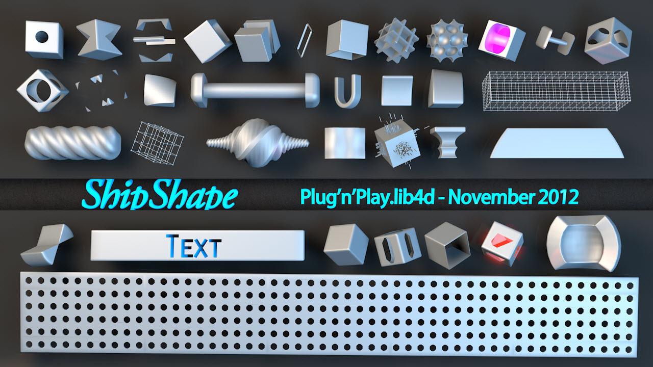 C4D工业形状创意零部件模型预设创意场景3D模型素材免费下载插图6