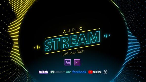 PR预设/AE模板-音乐制作频谱可视化宣传包装动画28889341 Stream Audio Pack插图