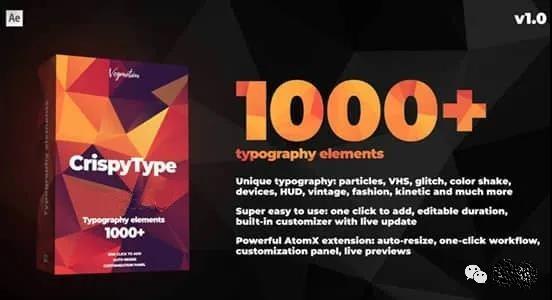 AE脚本-1000种创意时尚现代文字标题排版动画预设免费下载插图