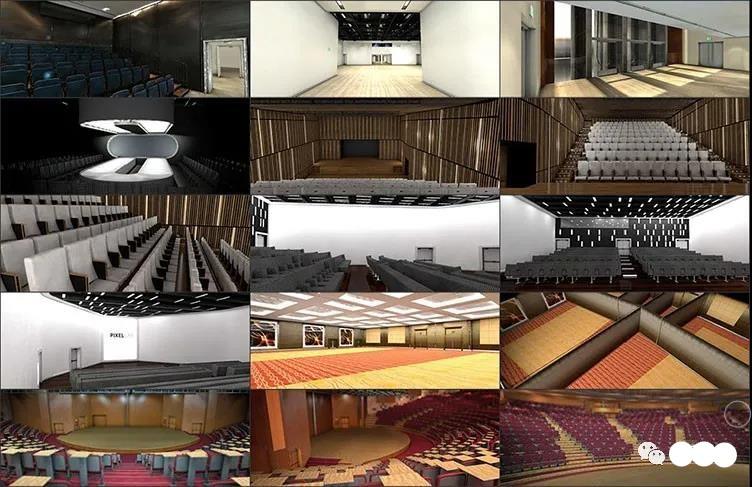C4D会议会场预设音乐会展览室内器具活动剧电影院3D模型素材插图1