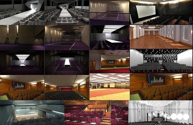 C4D会议会场预设音乐会展览室内器具活动剧电影院3D模型素材插图3