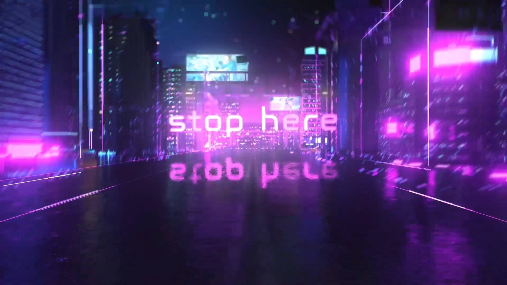 未来派赛博朋克风格标题特效的震撼史诗AE模板Cyberpunk Opener插图