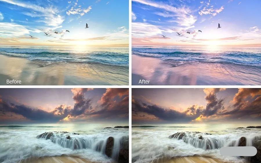 【预设】日出黎明风景摄影后期Lightroom预设免登录下载插图2