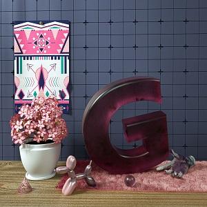 【模型】c4d盆栽花草 艺术摆件装饰品模型OC材质插图4